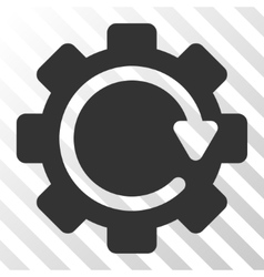 Gear rotation direction icon vector