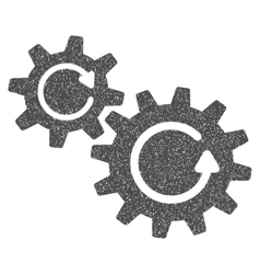 Cogs rotation grainy texture icon vector