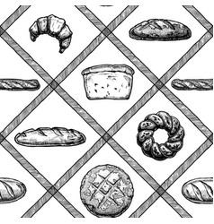 Hand drawn bakery products vector