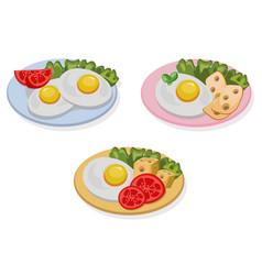 egg healthy breakfast fresh tasty meal cheese vector image