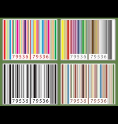 Barcode set vector