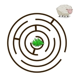 Game labyrinth find a way sheep vector