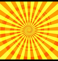 Abstract burst ray background orange vector