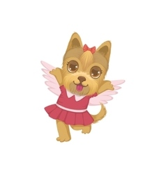Puppy with the wings vector