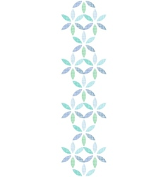 Abstract textile blue green leaves vertical vector image