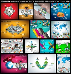 Big SET of Flat Style Design Concepts for business vector image vector image