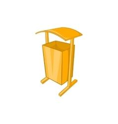 Dustbin for public spaces icon cartoon style vector
