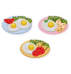 Egg healthy breakfast fresh tasty meal cheese vector
