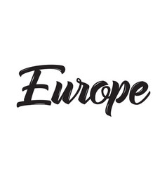 Europe text design calligraphy vector