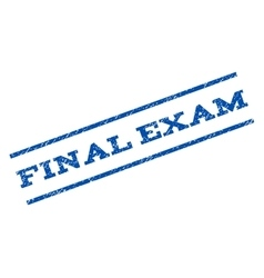 Final exam watermark stamp vector