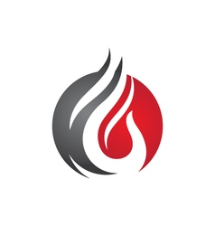 Fire flame Logo Template vector image vector image