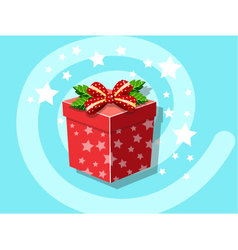 Gift icon christmas vector image