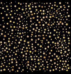 Gold stars seamless patterns vector