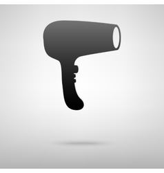 Hear dryer black icon vector