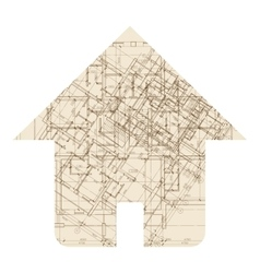 House architecture icon vector
