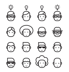 icon head human vector image