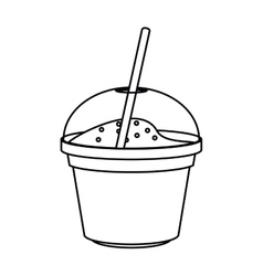 Isolated milkshake ice cream design vector