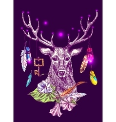 Magic deer vector