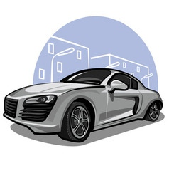 modern sport car vector image vector image