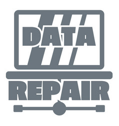 Pc data repair logo simple style vector