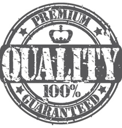Premium quality guaranteed 100 percent stamp vector image vector image