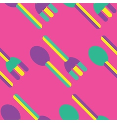 Seamless Fork and Spoon pattern vector image vector image