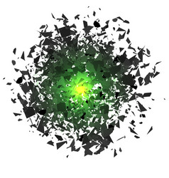 Sharp particles randomly fly in the air vector