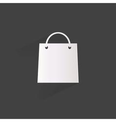 shopping bag web icon vector image