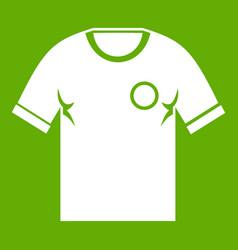 soccer shirt icon green vector image