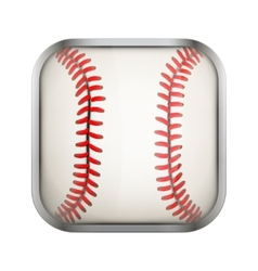 Square icon for baseball app or games vector