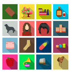 Textiles entertainment travel and other web icon vector