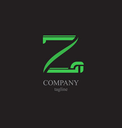 the letter z logo - a symbol of your business vector image vector image