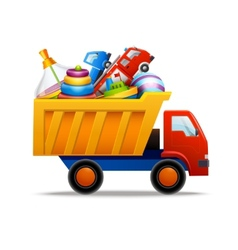 Toys in truck vector image
