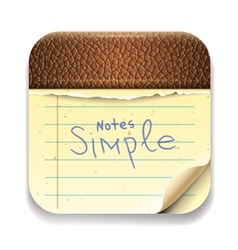 User interface notepad icon Eps10 image vector image