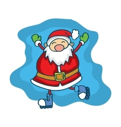 Happy Santa Claus Cartoon collection stock vector image
