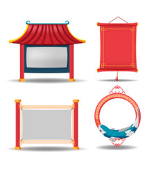 china border frame collection set vector image