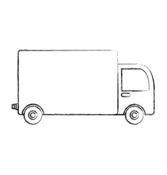 Truck delivery isolated icon vector