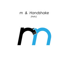 Creative m- letter icon abstract logo design vector