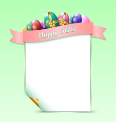 Happy easter document template vector