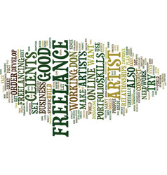 Freelance artist text background word cloud vector