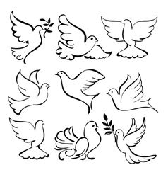 Abstract dove set vector