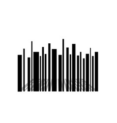 Bar code skyscraper vector