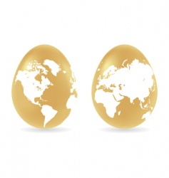 Eggs with global map pattern vector