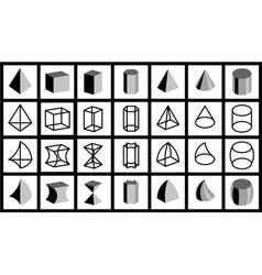 geometrical figures vector image