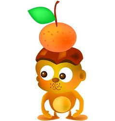 Mandarin monkey vector