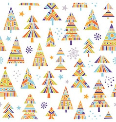 Christnas trees seamless pattern vector