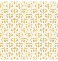 Vintage seamless pattern with golden ornament vector image