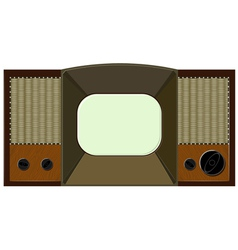 Artwork will old tv vector