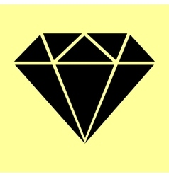Diamond sign flat style icon vector
