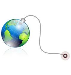 world bomb vector image